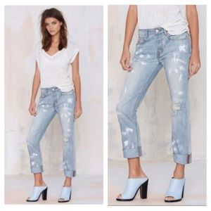 Nasty Gal NWT Brushed up boyfriend jeans 28 & 30